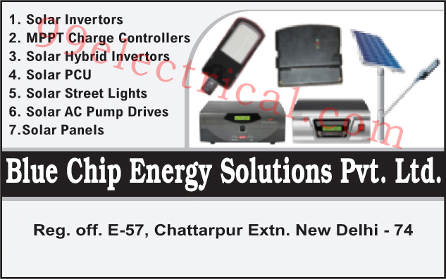Inverters, Solar Panels, Solar Hybrid Inverters, Solar PCU, Solar Street Lights, Solar AC Pump Drives, Mppt Charge Controllers, Solar Power Control Units
