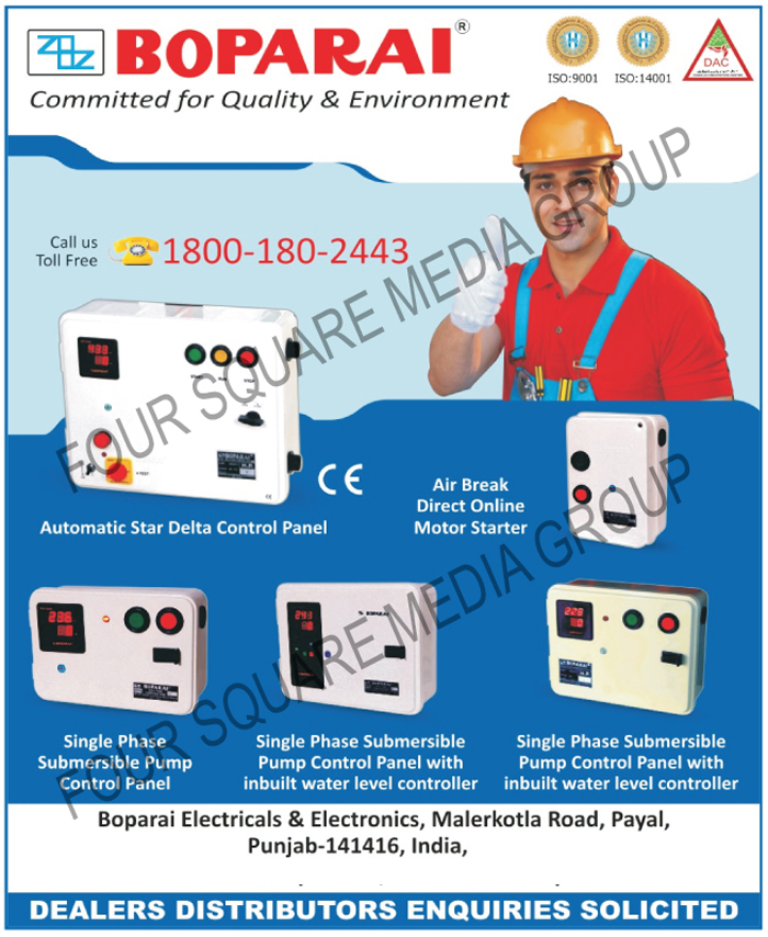 Automatic Star Delta Control Panels | Single Phase Submersible Pump ...