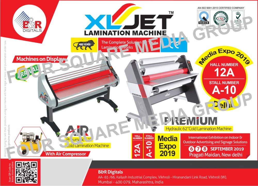 Hydraulic Hot Lamination Machines, Cold Lamination Machines, Lamination Machines, Take Up System For Digital Printing Machines, Hydraulic Cold Lamination Machines, Hot Lamination Machines