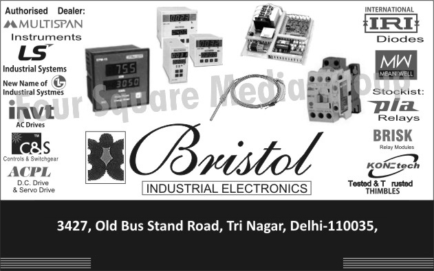 Industrial Electronic Products, AC Drives, Controls, Switchgears, DC Drives, Servo Drives, Diodes, Relays, Relay Modules, Thimbles