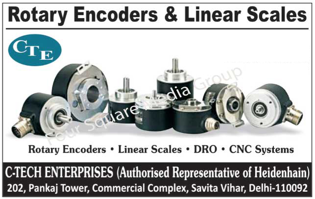 Rotary Encoders, Linear Scales, DRO, CNC Systems