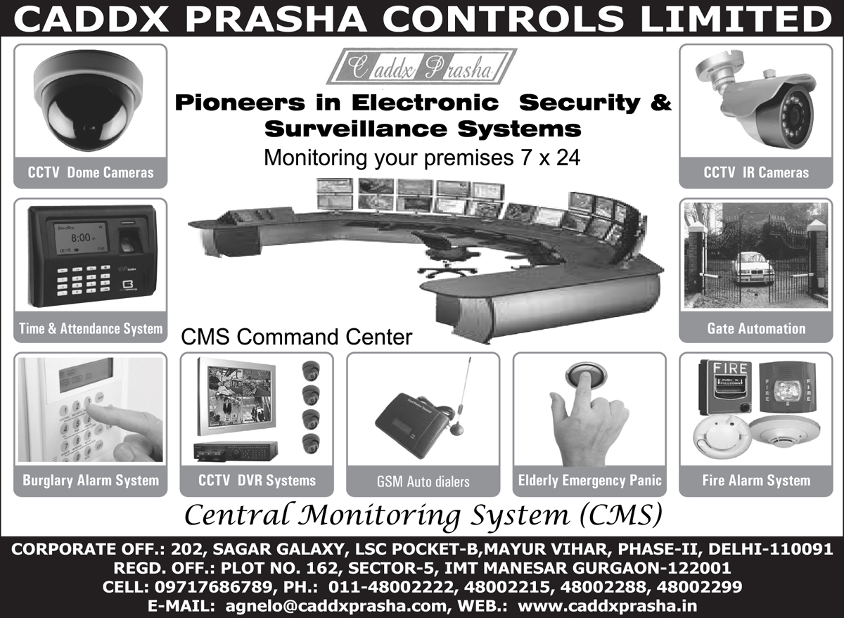 Cctv Cameras, Cctv Dome Cameras, Cctv Ir Cameras, Attendance Systems, Burglar Alarm System, Dvr System, Digital Video Recorder Systems, Gsm Auto Dialers, Elderly Emergency Panic, Fire Alarm System, Biometric Machine, Fire Safety Products