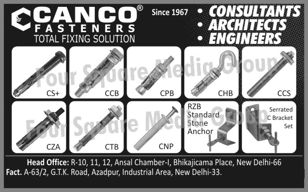 Fasteners, Anchors