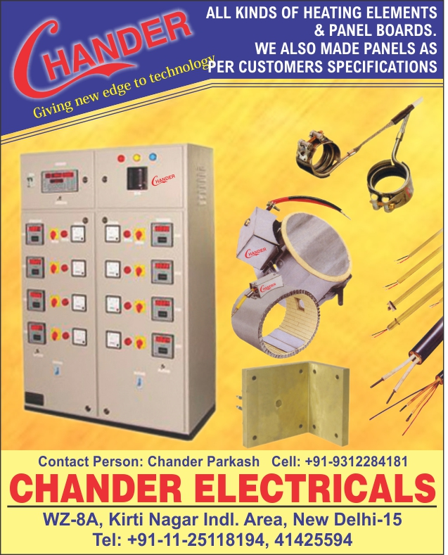Heating Elements, Electrical Panel Boards