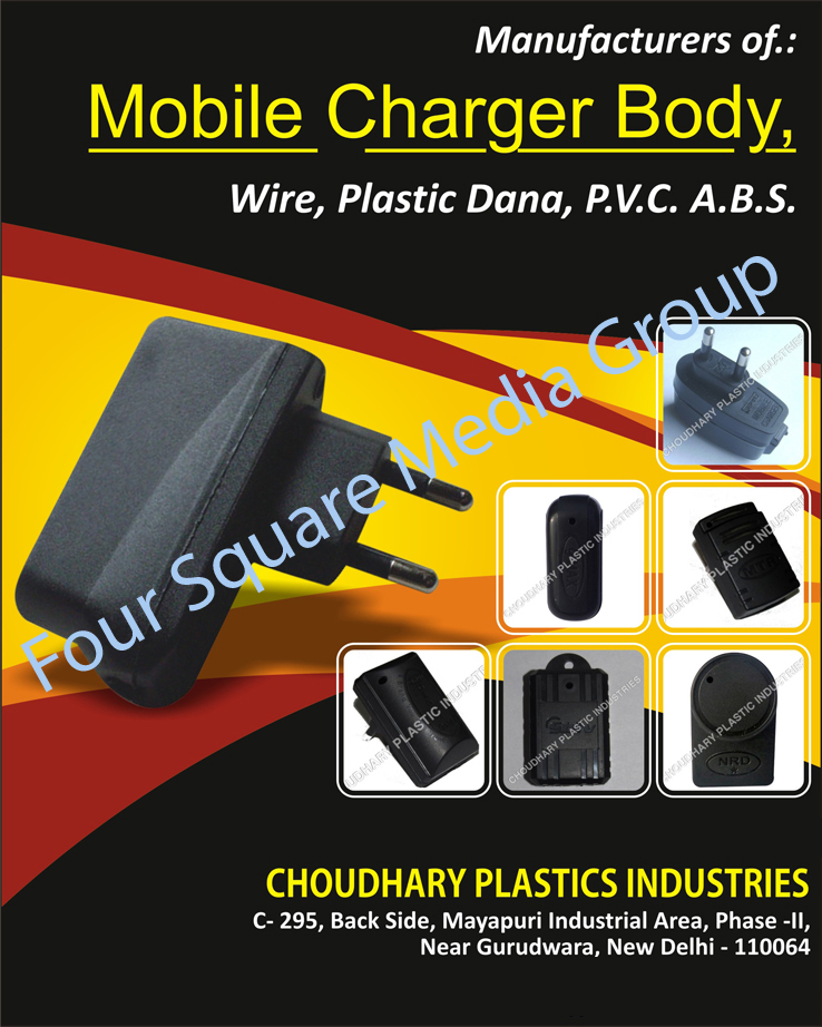 Mobile Charger Body, Charger Wire, Plastic Granules, PVC Granules, Plastic Granules, ABS Granules,Wire, Plastic Dana, Pvc Plastic Dana, Abs Plastic Dana, Cable Charger Wire, Set Top Box Remote, Remote, Mobile Charger Lead, Ac DC Converter, Electronic Ballast Cabinet, Mobile Charger Cabinet, Mobile Charger PCB, Mobile Charger Housing, Mobile Charger Circuit