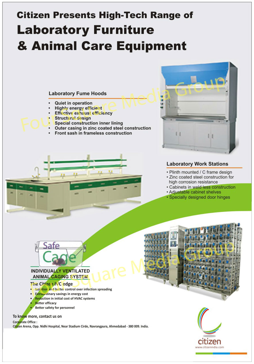Laboratory Furnitures, Animal Care Equipments, Laboratory Fume Hoods, Laboratory Work Stations, Ventilated Animal Caging Systems
