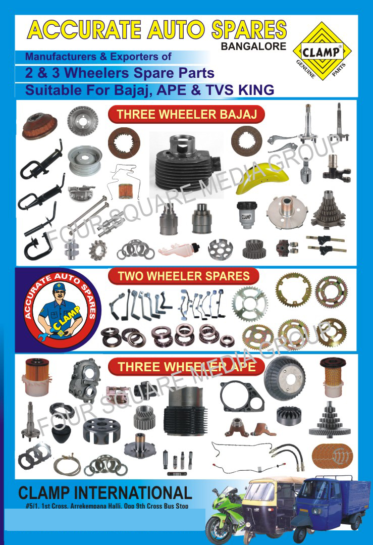 Two Wheelers Spare Parts | Three Wheeler Spare Parts | 2 Wheelers ...