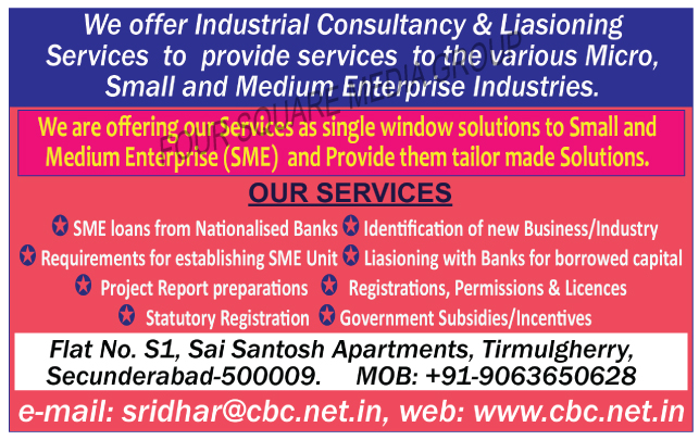 Liasioning Services, Project Report Preparations, Registration Service Provider, Permission Service Provider, Licences Service Provider, Statutory Registration Service Provider, SME Loans from Nationalised Banks