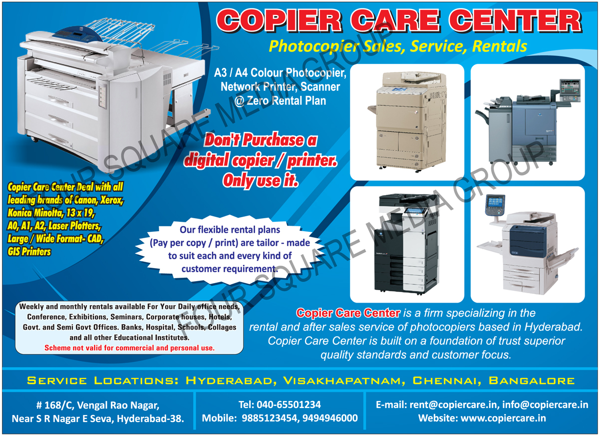Colour Photocopier Service, Network Printer Service, Scanner Service, Colour Photocopier On Rent, Network Printer On Rent, Scanner On Rent, Copiers, Production Copiers, Multi Color Copiers, Photostat Xerox Machine