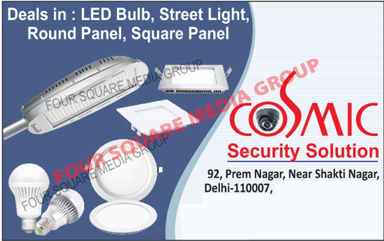 Led Bulbs, Street Lights, Round Panel Lights, Square Panel Lights