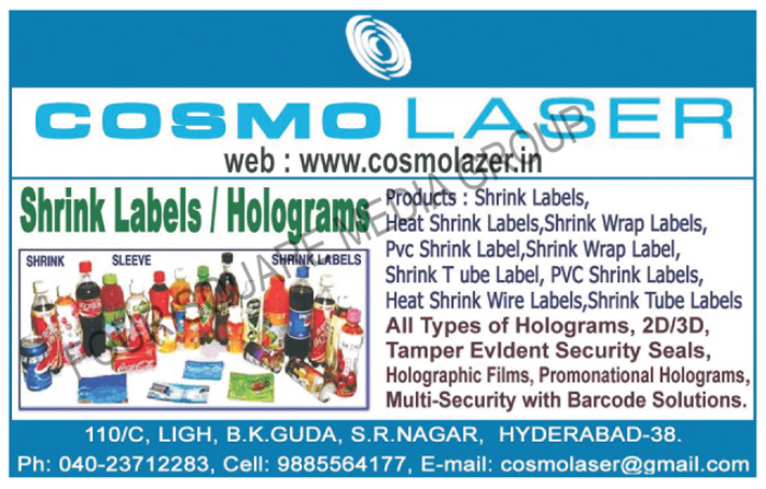 Shrink Labels, Holograms, Shrink Sleeves, Hear Shrink Labels, Shrink Wrap Labels, PVC Shrink Labels, Shrink Wrap Labels, Shrink Tube Labels, Heat Shrink Wire Labels, 2D Holograms, 3D Holograms, Tamper Evident Security Seals, Holographic Films, Promonational Holograms, Multi Security Barcode Solutions