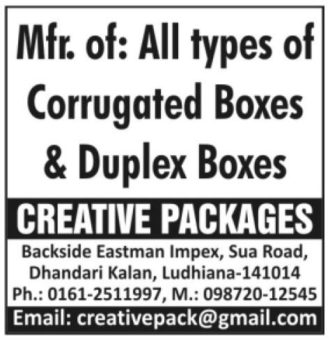 Corrugated Boxes, Duplex Boxes