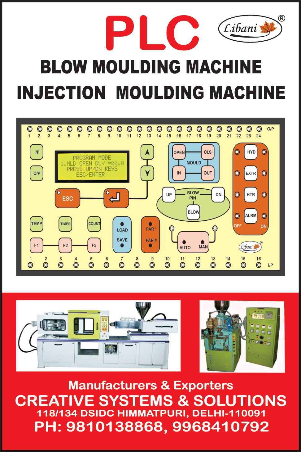 Blow Moulding Machines, Injection Moulding Machines