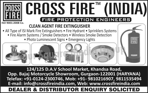 Fire Extinguishers, Fire Hydrant, Fire Sprinklers Systems, Fire Alarm Systems, Smoke Detectors, Wireless Smoke Detection, Photo Luminescent Signs, Emergency Lights,Photo Luminescent Signs, Sprinklers Systems, Fire Safety Products