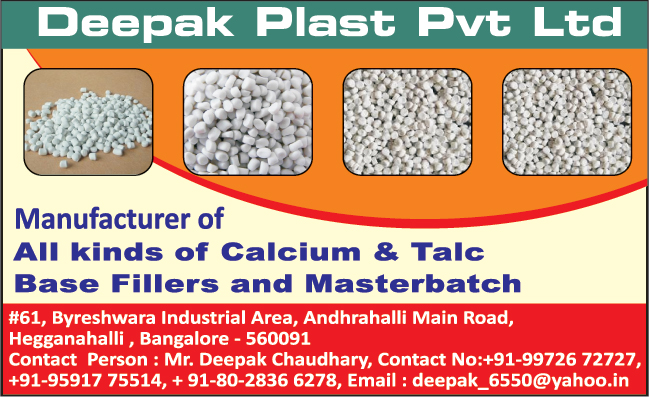 Calcium Fillers, Talc Base Fillers, Masterbatches, Master Batches