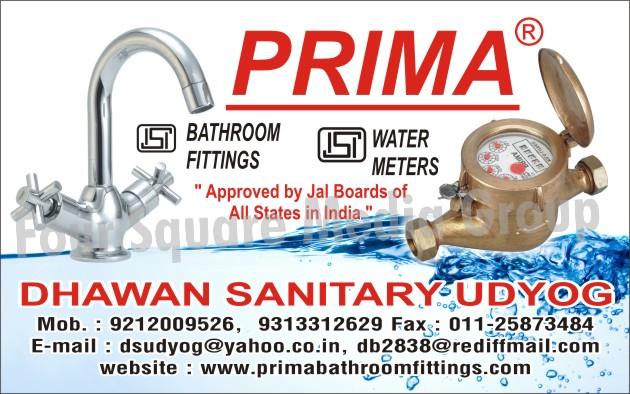 Bathroom Fittings, Water Meters,