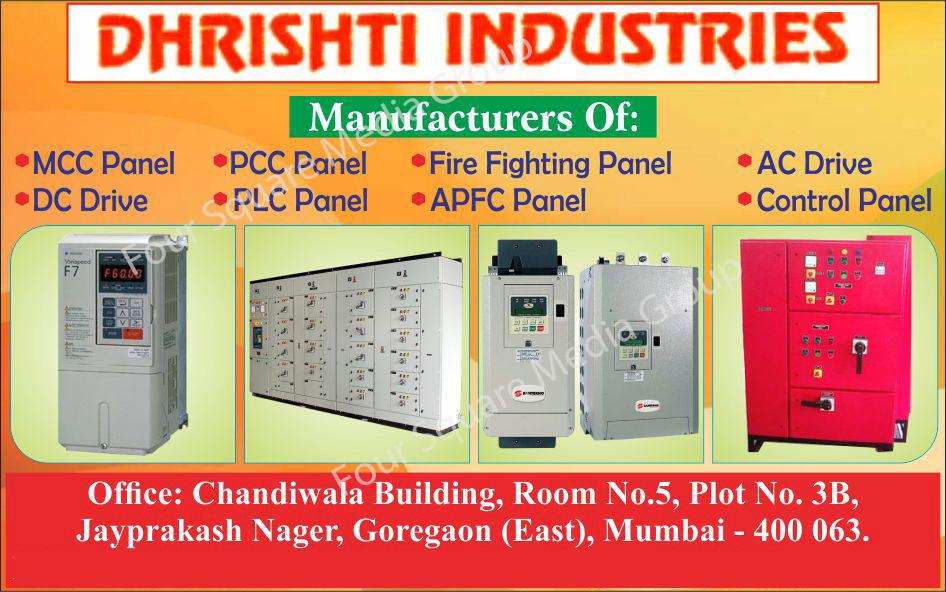 AC Drives, Electrical Control Panels, DC Drives, MCC Panels, PCC Panels, PLC Panels, Fire Fighting panels, APFC Panels
