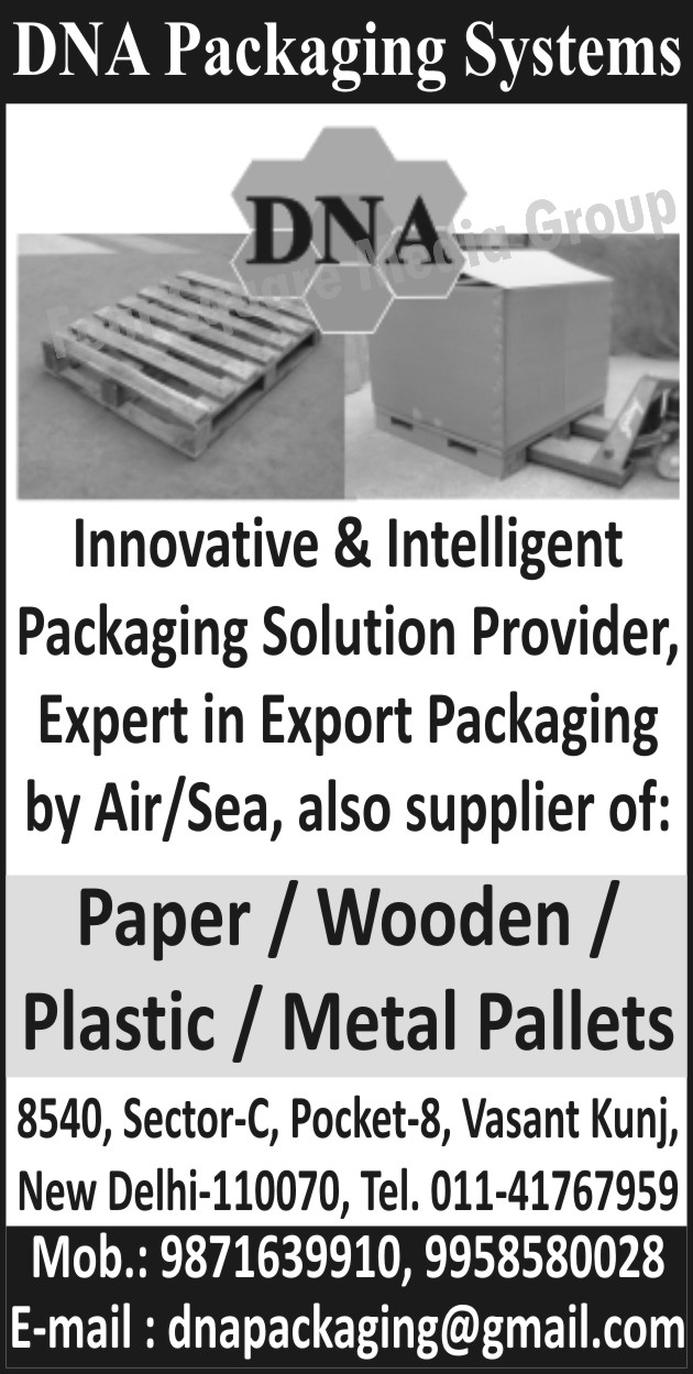 Innovative Packaging Solution, Intelligent Packaging Solution,  Paper Pallets, Wooden Pallets, Plastic Pallets, Metal Pallets