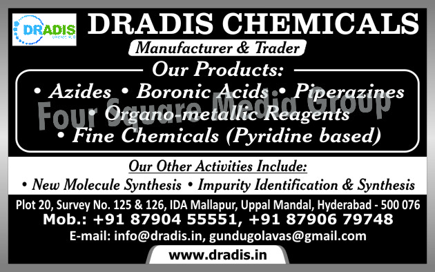 Azides, Boromic Acids, Piperazines, Pyridine Based Fine Chemicals, Organo Metallic Reagents, Molecule Synthesis, Impurity Identification, Impurity Synthesis,