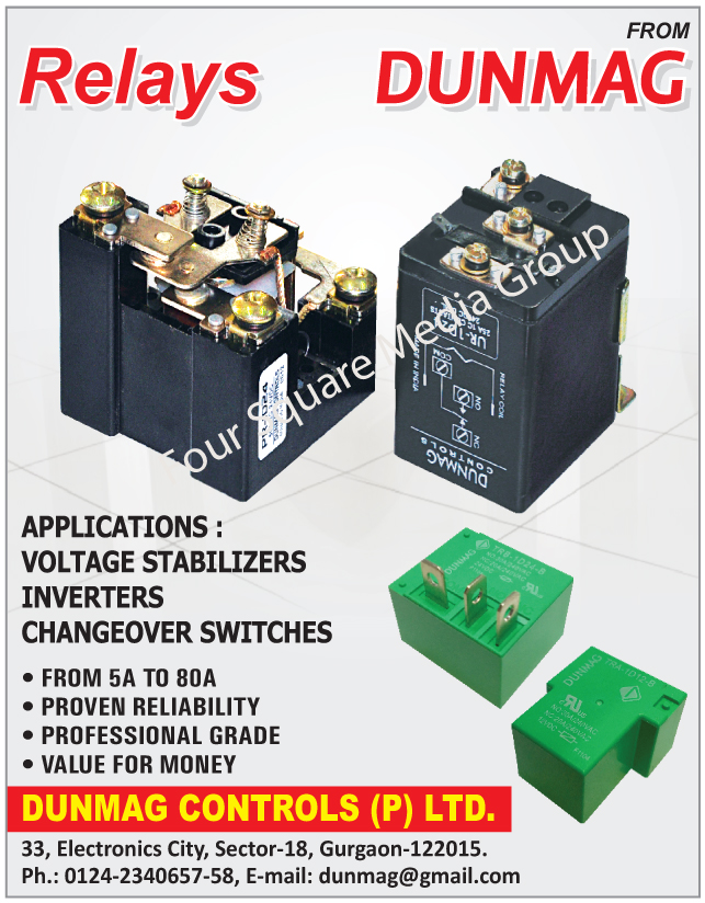 Voltage Stabilizer Relays, Inverter Relays, Changeover Switches Relays, DC Relays, Power Relays,Changeover Switches, Inverter, Relays, Voltage Stabilizers, Electronic Relays