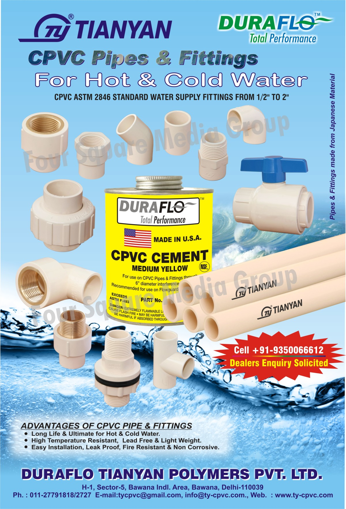 CPVC Pipes For Hot Waters, CPVC Pipes For Cold Waters, CPVC Pipe Fittings For Hot Water, CPVC Pipe Fittings For Cold Waters,CPVC Pipes, Pipe Fittings