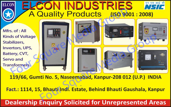 Voltage Stabilizers, Inverters, Ups, Cvt, Transformers, Servo Stabilizers, Battery, Batteries