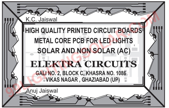 Metal Core Printed Circuit Boards, Printed Circuit Boards, Led Light Printed Circuit Boards, Solar Light Printed Circuit Boards, Solar Printed Circuit Boards, Non Solar Printed Circuit Boards,Metal Core PCB, Circuit Boards, Led Light PCB, Solar PCB, Non Solar PCB