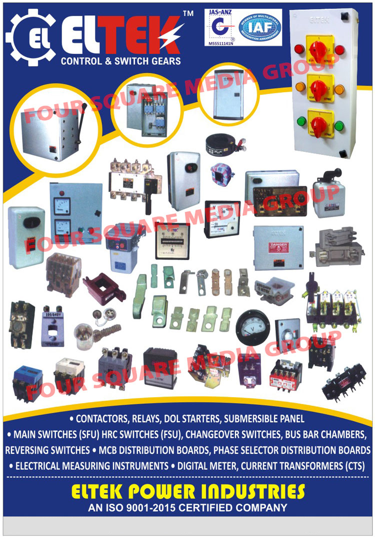 Contactors Relays Dol Starters Eltek Power Industries Changeover Relay