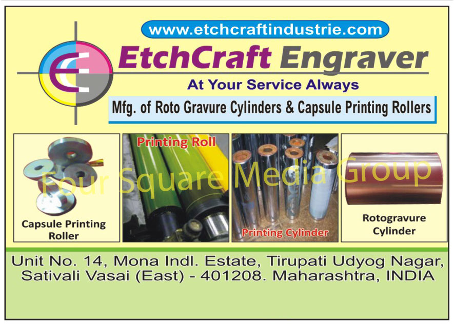 Capsule Printing Roller, Rotogravure Cylinders, Roto Gravure Cylinders, Printing Rolls, Printing Cylinders
