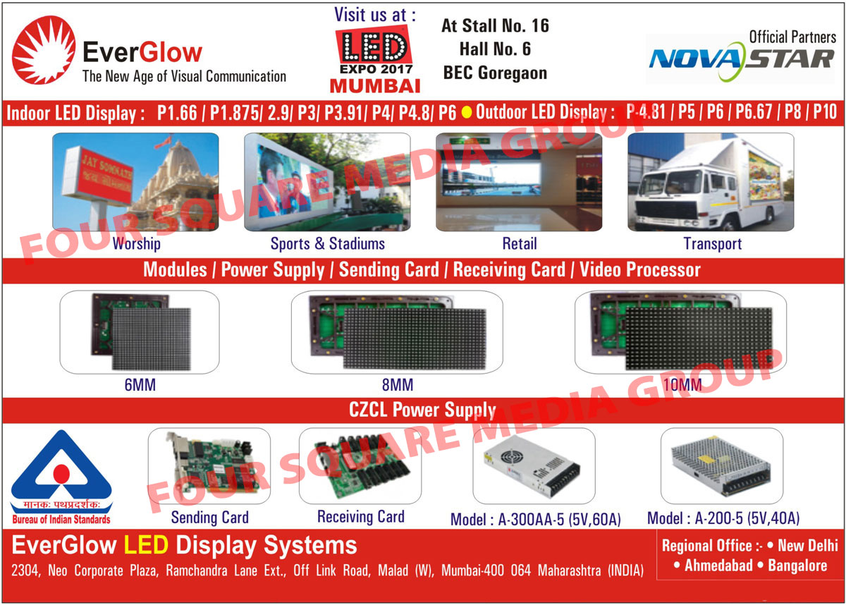 Indoor Led Display, Outdoor Led Display, Modules, Power Supply, Sending Card, Receiving Card, Video Processor, CZCL Power Supply, Led Display, Power Supply