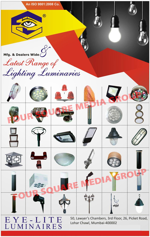 Lighting Luminaires, Indoor Lights, Outdoor Lights, Industrial Lights, Power Saver Lights, Garden Gate Lights, Led Lights, Induction Lights, Commercial Lights