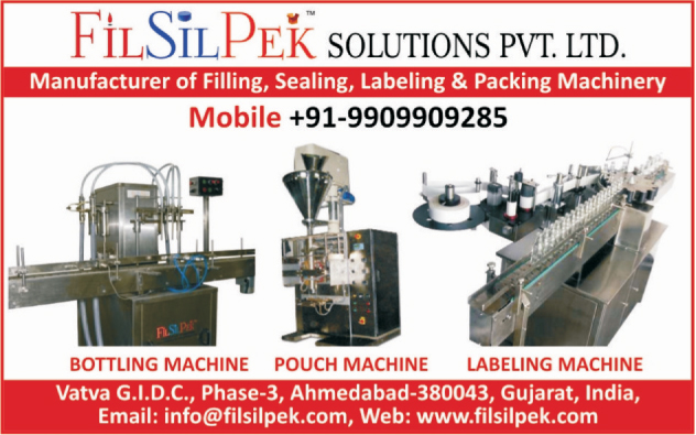 Bottling Machines, FFS Pouch Packing Machines, Labeling Machines, Filling Machines, Liquid Filling Machines, Tube Filling Machines, Powder Filling Machines, Viscous Filling Machines, Sealing Machines, Packing Machines,