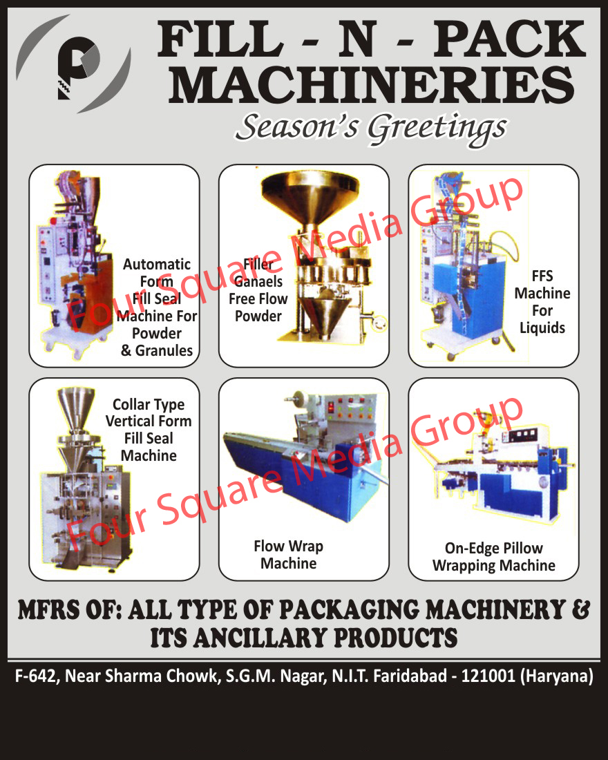 Automatic Form Fill Seal Machines, Semi Pneumatic FFS With Auger Filler, Liquids FFS Machine, Collar Type Vertical Form Fill Seal Machines, Horizontal Flow Wrap Machines, On Edge Pillow Wrapping Machines, Packaging Machines, Packaging Machine Products,Pneumatic FFS Auger Fillers, FFS Machines, Flow Wrap Machines, Collar Vertical Form Fill Seal Machines