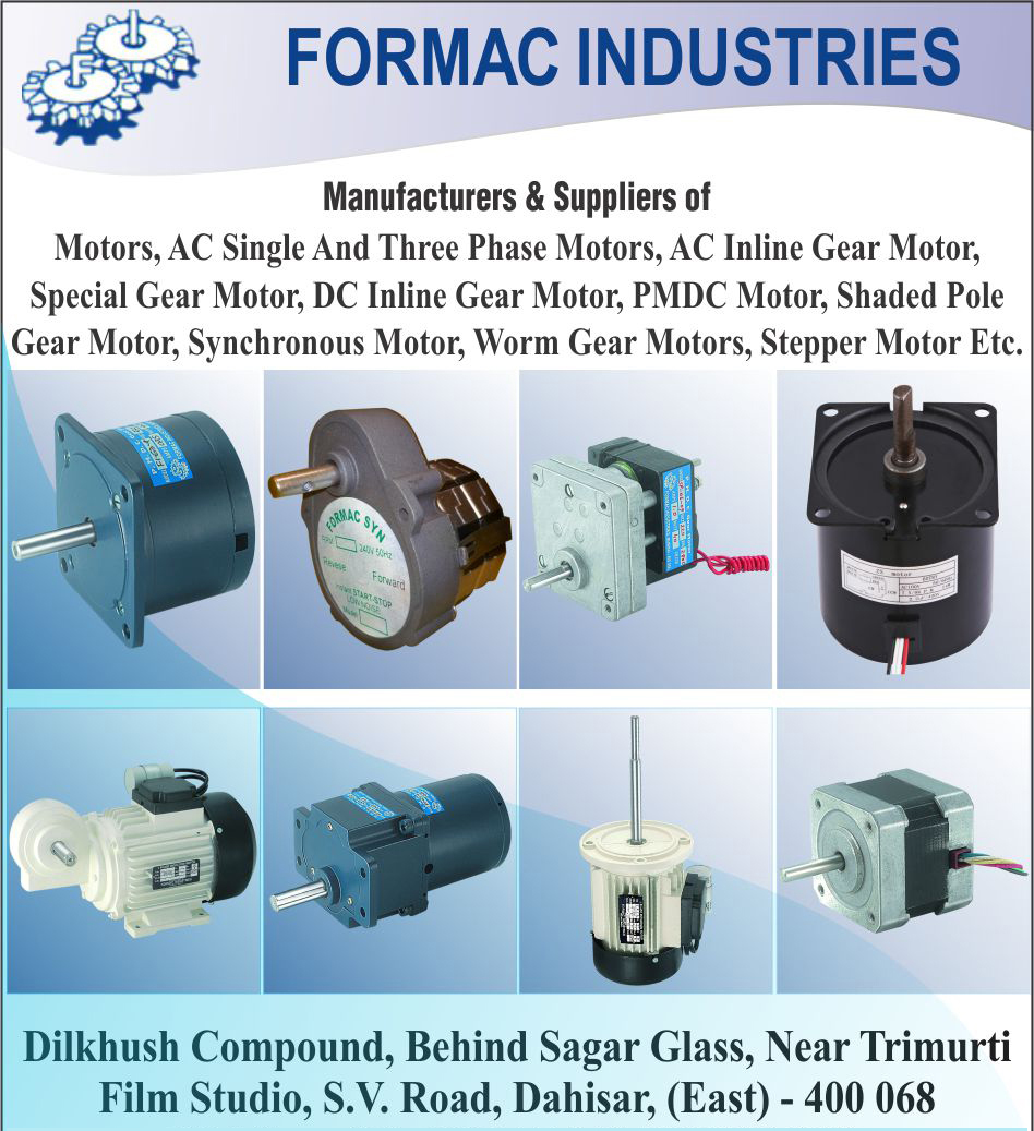 Motors, Ac Single Phase Motors, AC Three Phase Motors, AC Inline Gear Motors, Special Gear Motors, DC Inline Gear Motors, PMDC Motors, Shaded Pole Gear Motors, Synchronous Motors, Worm Gear Motors, Stepper Motors