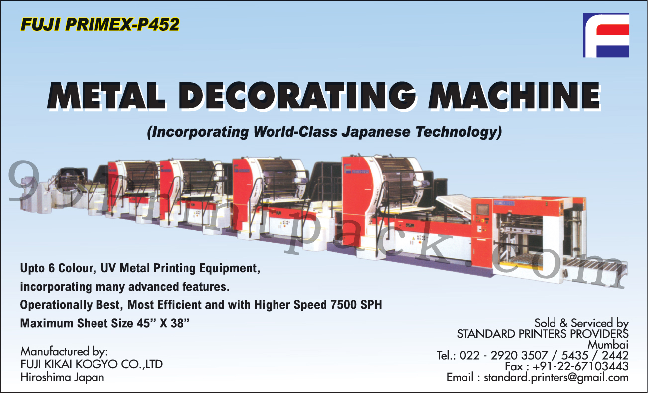 Metal Decorating Machine, UV Metal Printing Equipment, Dryer, Peripheral Equipment, Unwinder, Rewinder, Coating Machine, Laminator, Rotogravure Printing