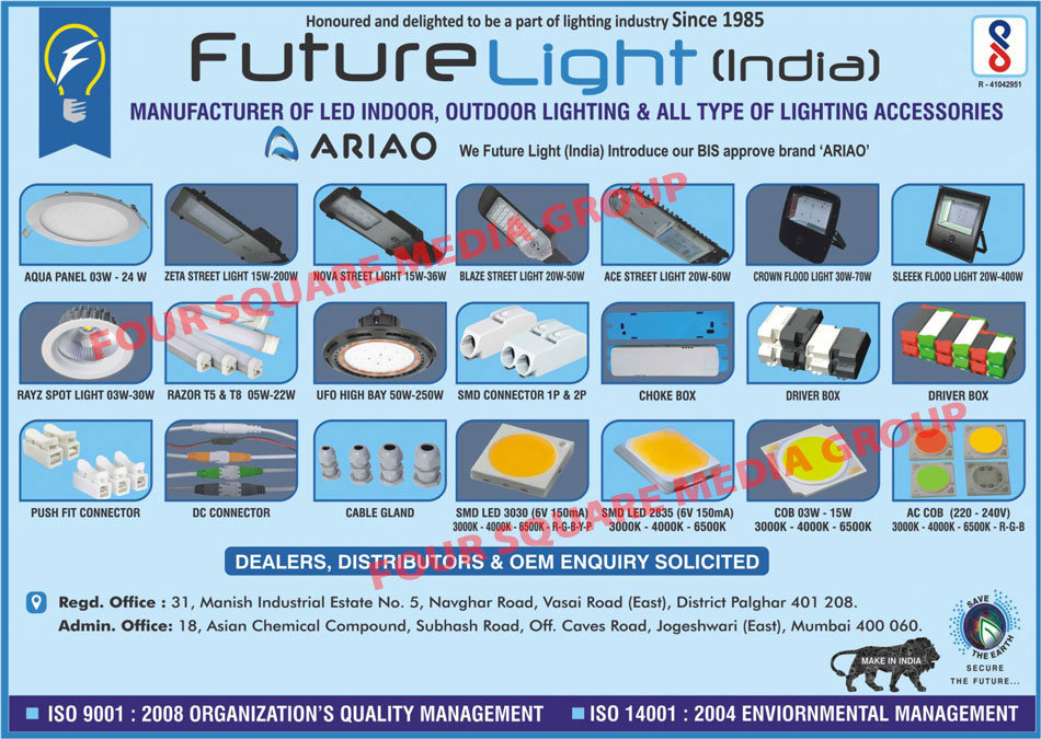 Led Lights, Led Indoor Lights, Led Outdoor Lights, Light Accessories, Led Bulbs, Led T5 Tube Lights, Led T8 Tube Lights, Led Panel Lights, Led Downlights, Led Down Lights, COB Downlights, COB Down Lights, Leds, Led Linea Lights, Led Street Lights, Led Flood Lights, Post Top Lights, Choke Circuits, Choke Boxes, Driver Boxes, Cable Glands, Led Male Female Wire, Electrical Hardware Works, SMD Led, Push Fit Connector, DC Connector, SMD Connectors, Sleek Flood Lights, Spot Lights, High Bay Lights, COB, AC COB