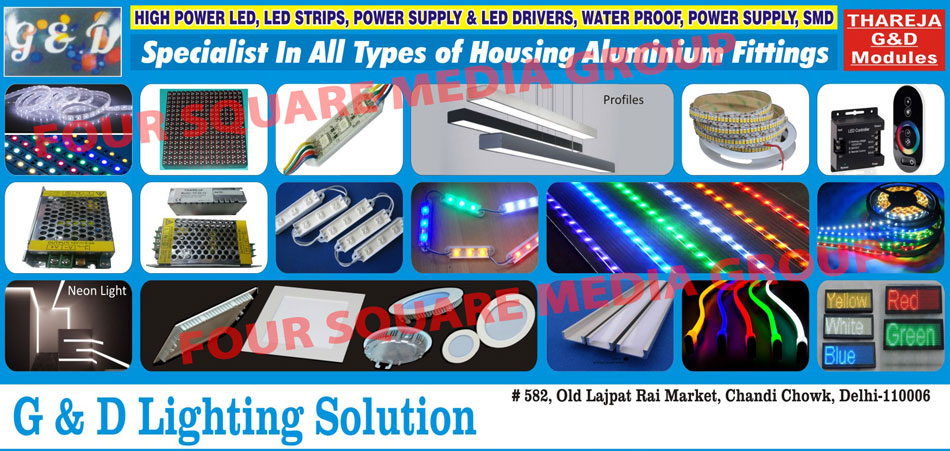 Leds, Led Strips, Power Supply, Power Supplies, Led Drivers, Water Proof Power Supply, SMD, Housing Aluminium Fitting, Neon Lights, Led Modules, Led Profiles