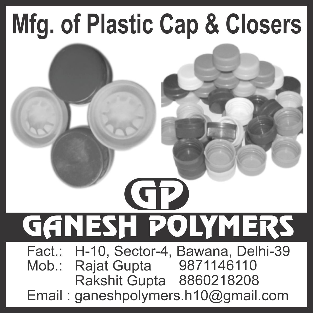 Plastic Caps, Plastic Closures