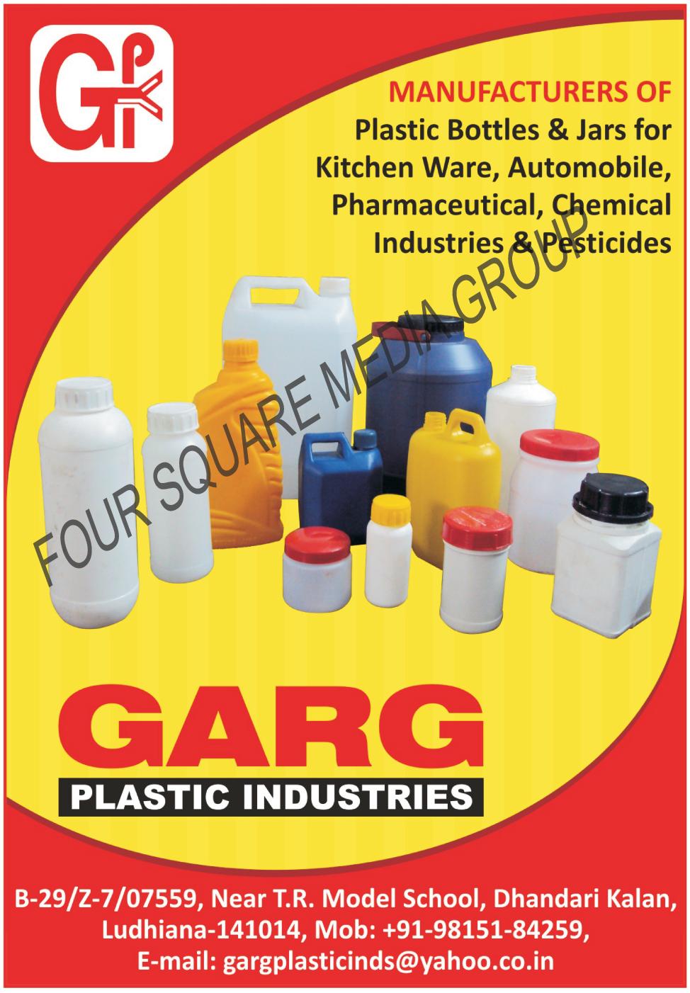 Plastic Bottles, Plastic Jars