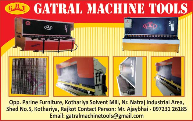 Shearing Machines, Press Brake Machine,Power Presses, Roll Plate Blending Machines