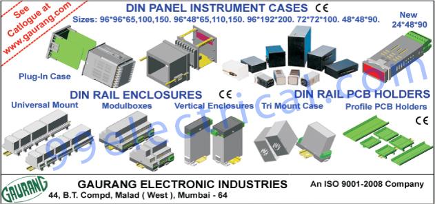 Din Panel Instrument Cases, Din Rail Printed Circuit Board Holders, Din Rail Enclosures, Printed Circuit Board Holders, Universal Mounts, Tri Mount Cases, Vertical Enclosures, Module boxes,PCB Holders, Din Rail PCB Holders, Plug In Enclosures, Wall Enclosures, Modular PCB Holders, Plastic Collet Knobs, PCB Card Guides, Patch Cords, Test Probes, Inverter, Panel Instrument, UPS