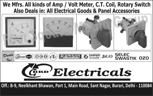Amp Meters, Volt Meters, CT Coils, Rotary Switches, Electrical Goods, Electric Panel Accessories,AMP, Panel Accessories