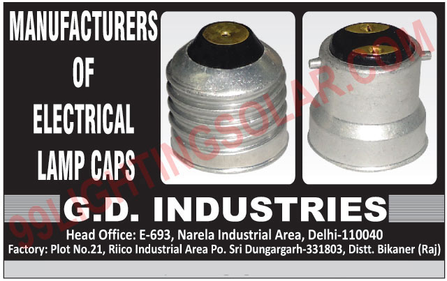 Electrical Lamp Caps,Caps, Lamp Caps, Electrical Caps
