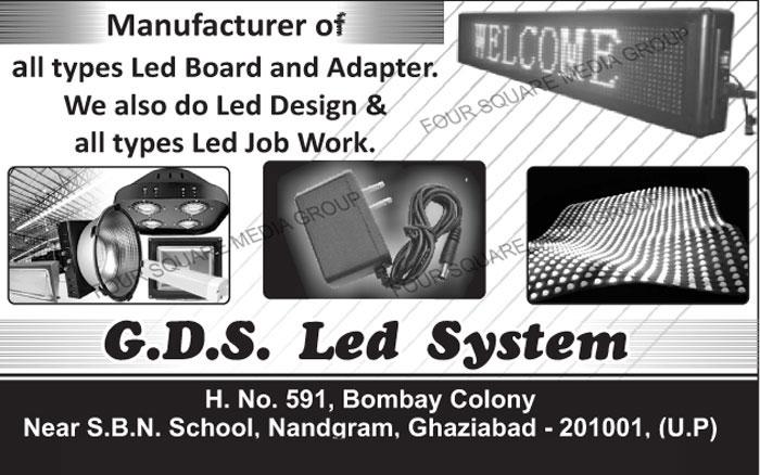 Led Boards, Adapters, Led Designing, Led Job Works