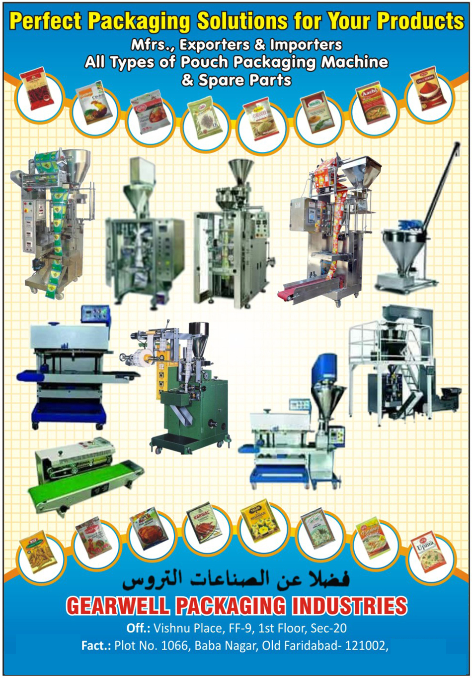 Pouch Packaging Machines, Pouch Packaging Machine Spare Parts, Arabic Language Packaging Materials