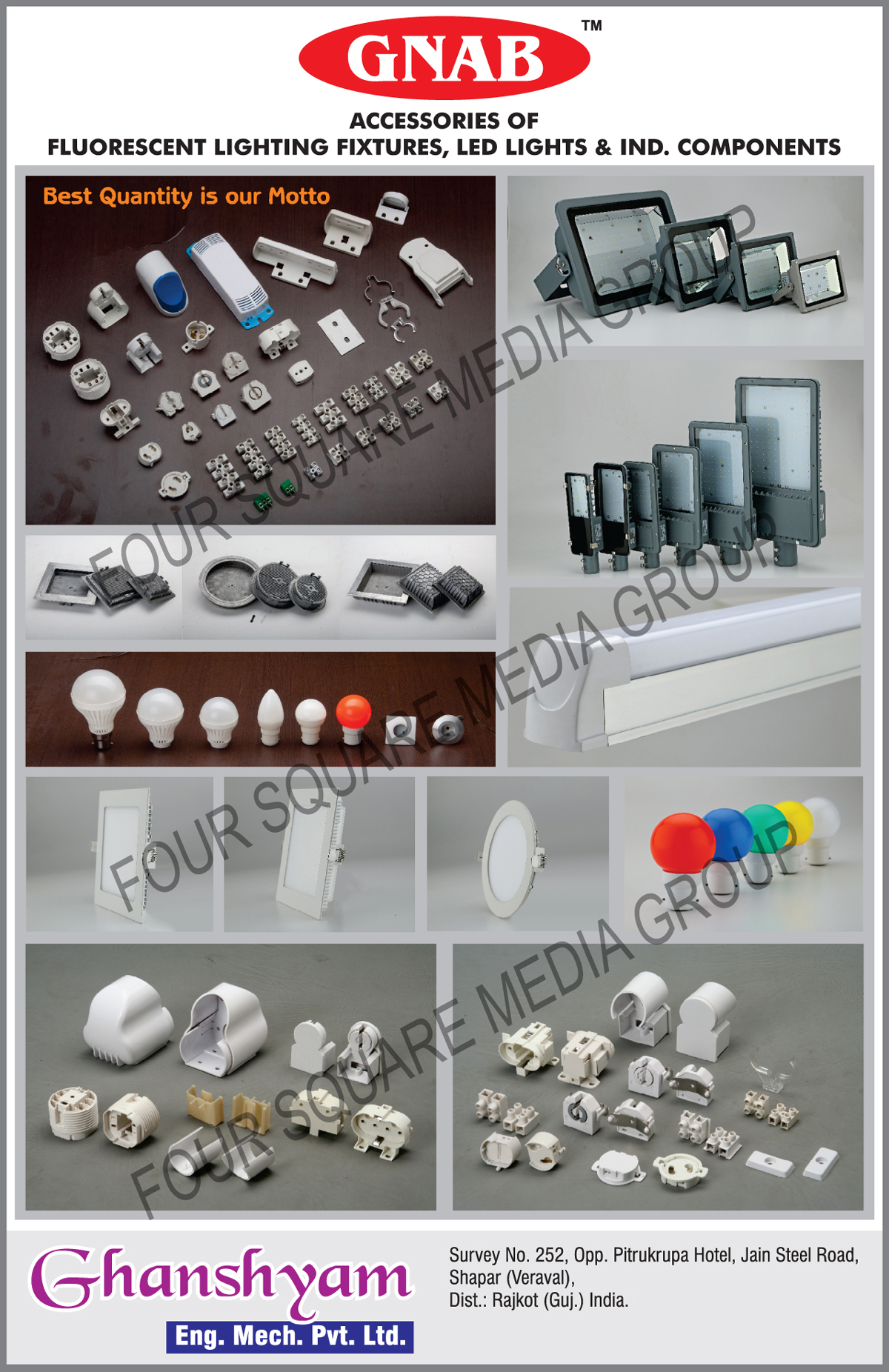 Fluorescent Lighting Fixtures, Led Lights, Industrial Components