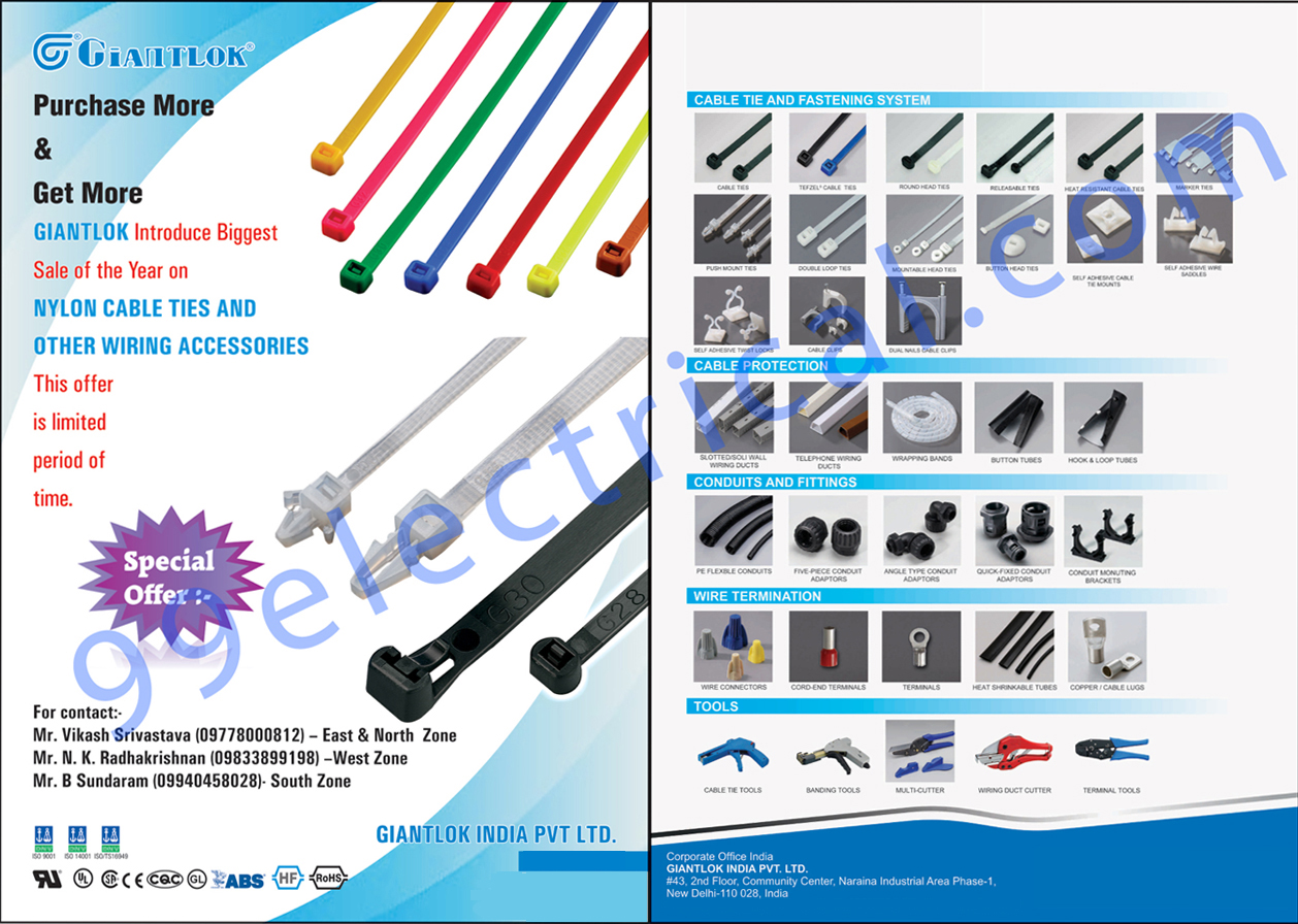 Cable Tie Systems, Fastening Systems, Heat Resistant Cable Ties, Marker Ties, Push Mount Ties, Button Head Ties, Cable Clips, Self Adhesive Twist Locks, Self Adhesive Wire Saddles, Self Adhesive Cable Tie Mounts, Cable Protections, Telephone Wire Ducts, Wrapping Bands, Sslotted Wiring Ducts, Solid Wall Ducts, Conduits, Wire Terminations, Wire Connectors, Core End Terminals, End Connectors, Hook Tubes, Loop Tubes, Angle Type Conduit Adaptors, Quick Fixed Conduit Adaptors, Conduit Mounting Brackets, Cable Tie Tools, Banding Tools, Multi Cutters, Wiring Duct Cutters, Terminal Tools, Leading Wiring Accessories, Wiring Management Solution Providers,Electrical Parts, Cable Fastening System, Tie Fastening System, Electrical Wire Accessories, Cable Protection, Nylon Cable Ties, Wire Termination, Terminal Blocks, Composite Material, Conducts, Hex Nuts, Hex Head Screws, Screws, Electrical Accessories, Heat Shrinkable Tubes, Wiring Duct Cutter, Multi Cutter, Cable