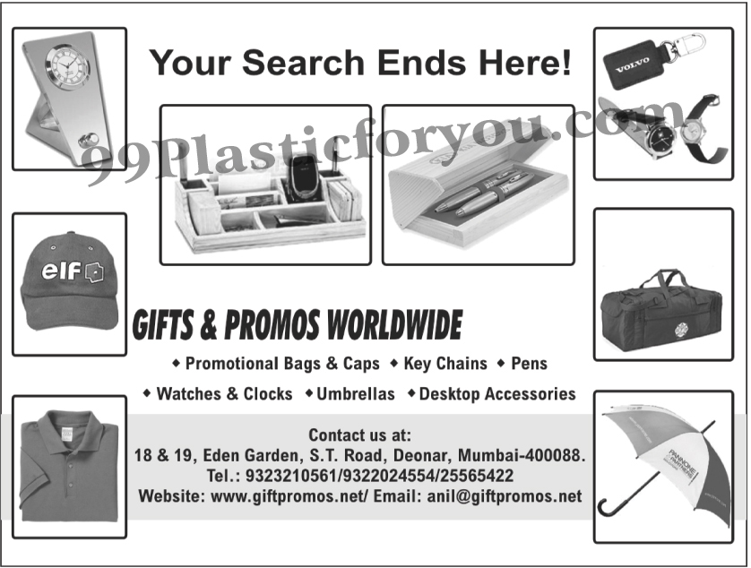 Gift Items, Promox, Promotional Bags, Promotional Caps, Key chains, Pens, Waches, Clocks, Umbrellas, Desktop Accessories, Brass, Glass Crystals, T Shirts, Thermoware, Wood Items, Plastic Pens, Cup, Bags