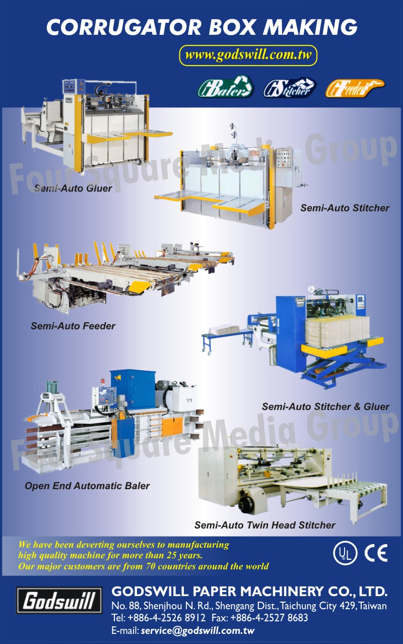 Semi Auto Gluer, Semi Auto Feeder, Semi Auto Stitcher, Open End Automatic Baler, Semi Auto Head Stitcher
