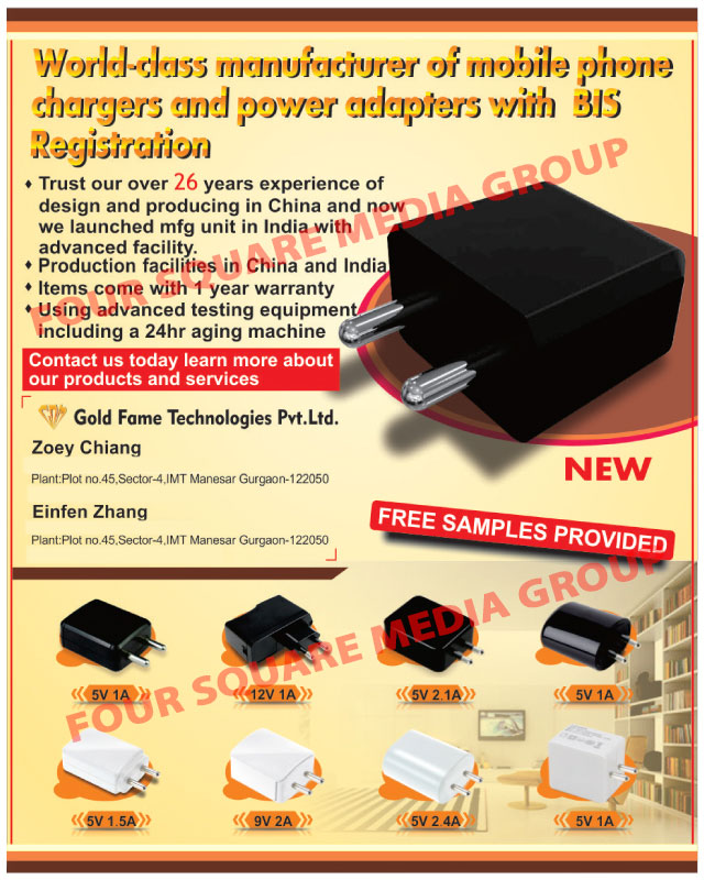 Mobile Phone Charger Adapters, Power Adapters